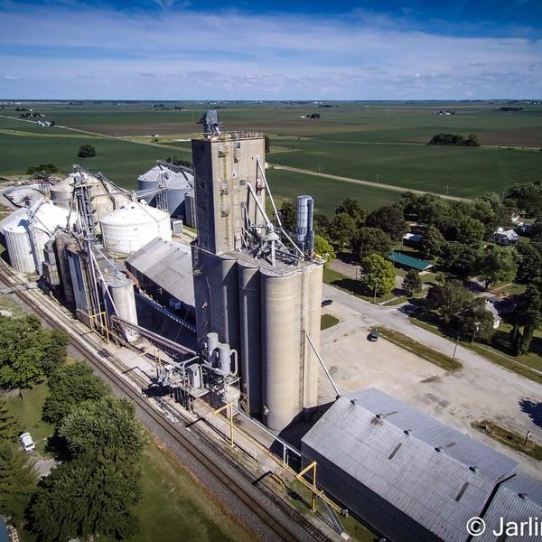 Bunge grain elevator, located in Homer, IL