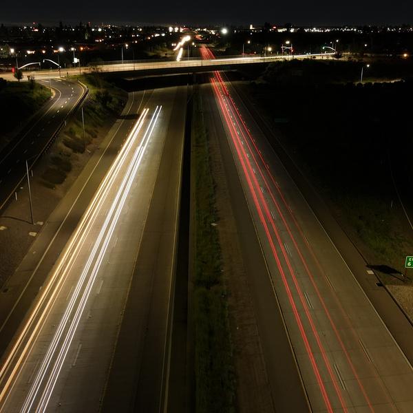 Highway 168 @ Night - Long Exposure