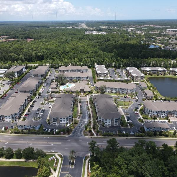 Apartment Complex Overview Shot