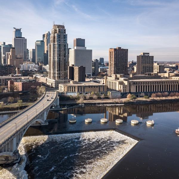 Minneapolis Skyline Aerial Drone Photography