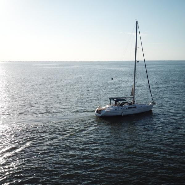Boat on Lake Ponchatrain