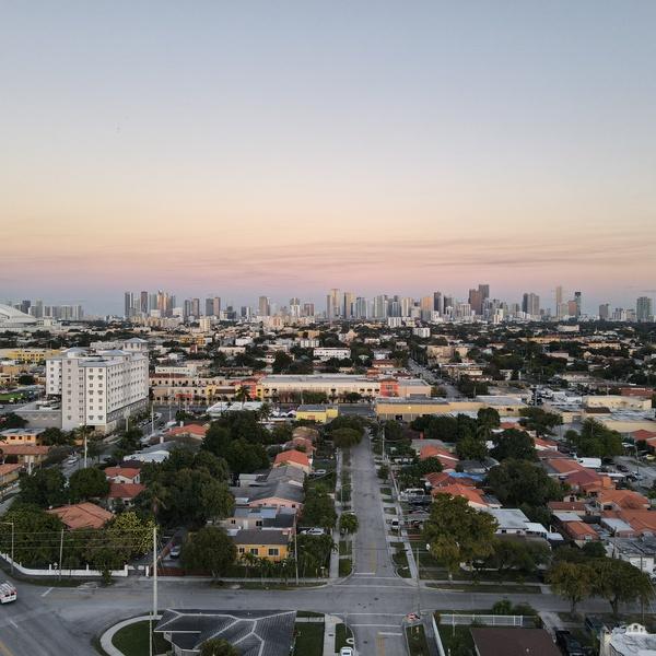 Miami Skyline. Golden hour