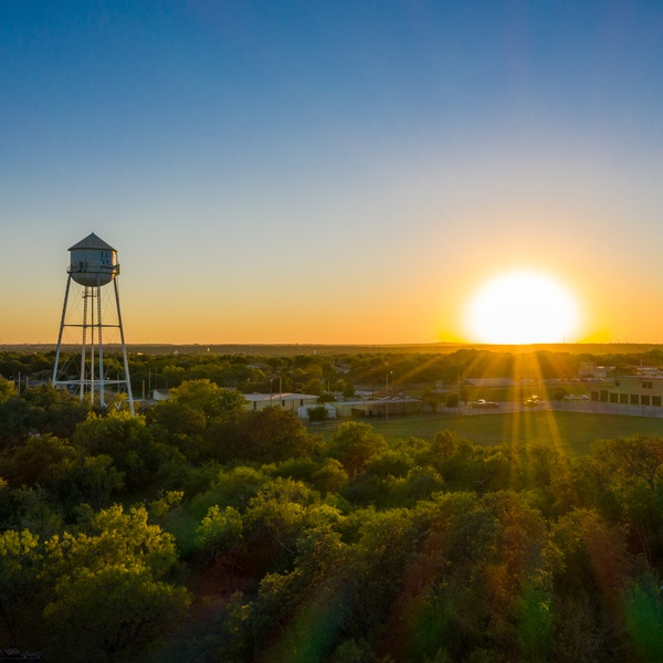 Leon Valley Tower and Sunset