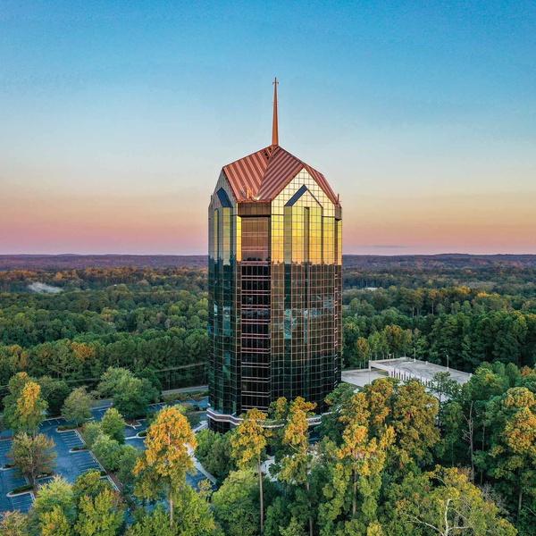 Landmark Building at Twilight
