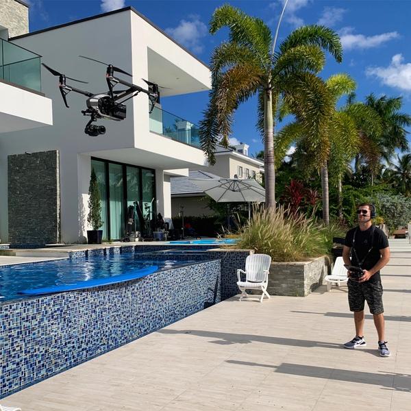Drone Operator Colin Fichman on Set in Miami Florida