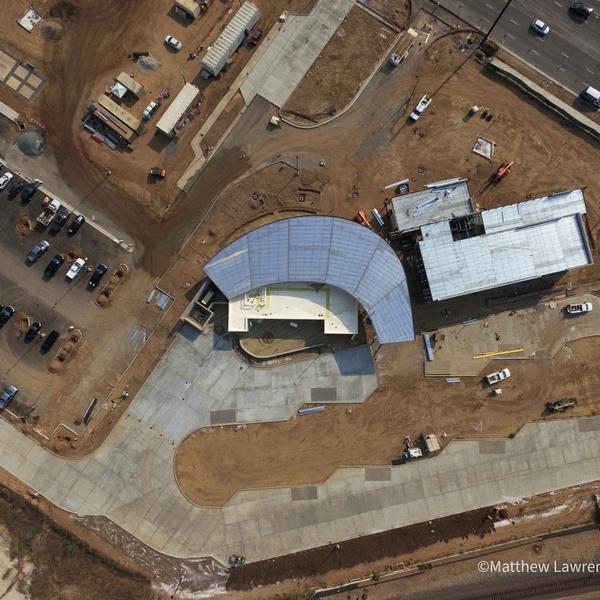 Torrance Transit Center Overhead View