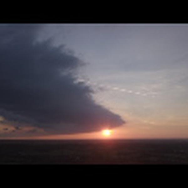 Kentucky Sunset through dieing thunderheads.