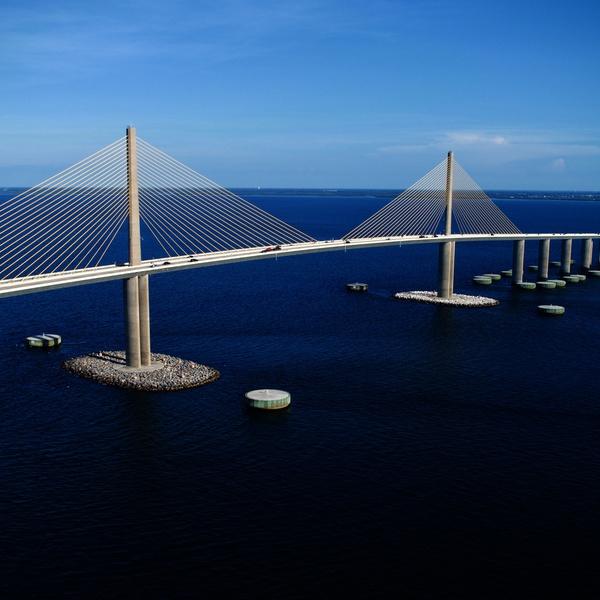 Skyway Bridge Tampa Bay.
