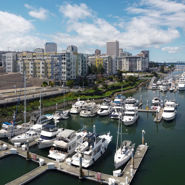 Downtown Tacoma and waterway