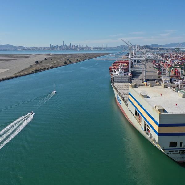 Matson ship at dock