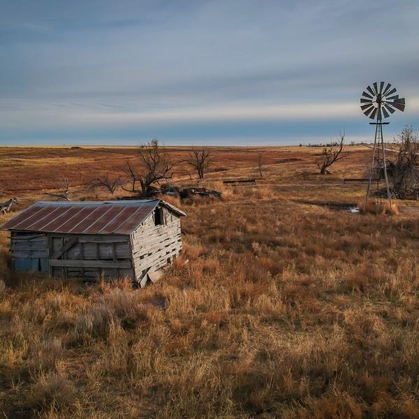 Old barn in rural Oklahoma