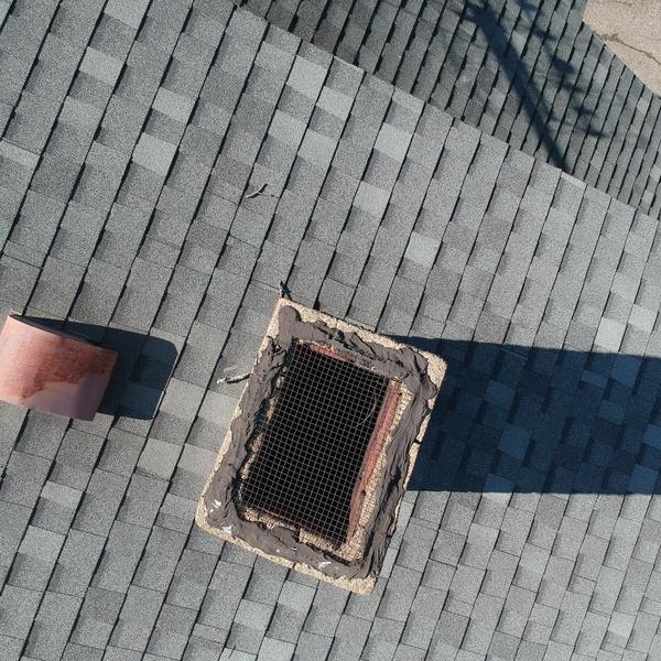 Storm damage roof