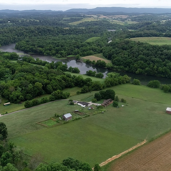 Holston River aerial. A part of a 220 acre lot in New Market Tennessee