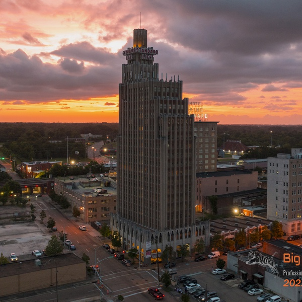 Downtown Jackson Mississippi Sunset