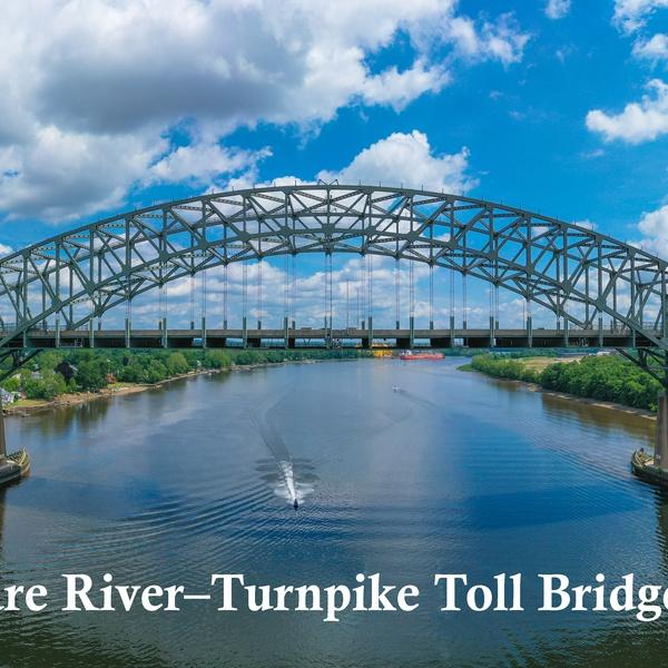 Delaware River–Turnpike Toll Bridge PANORAMA