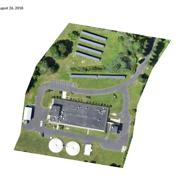 Orthomosaic Map of water treatment plant in Maine.