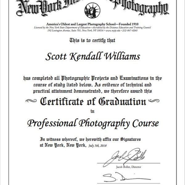 New York Institute of Photography - Professional Photography Graduate