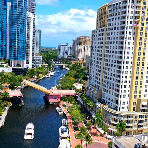 Fort Lauderdale City Scape from Water