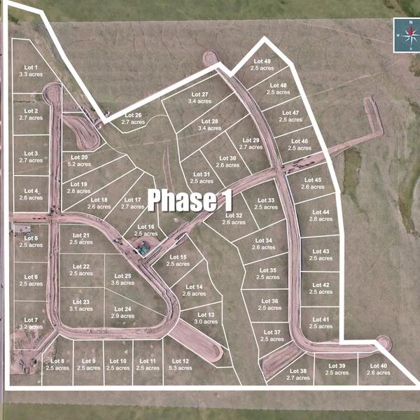 Construction Progress with Plat Overlay - Saddlehorn Ranch