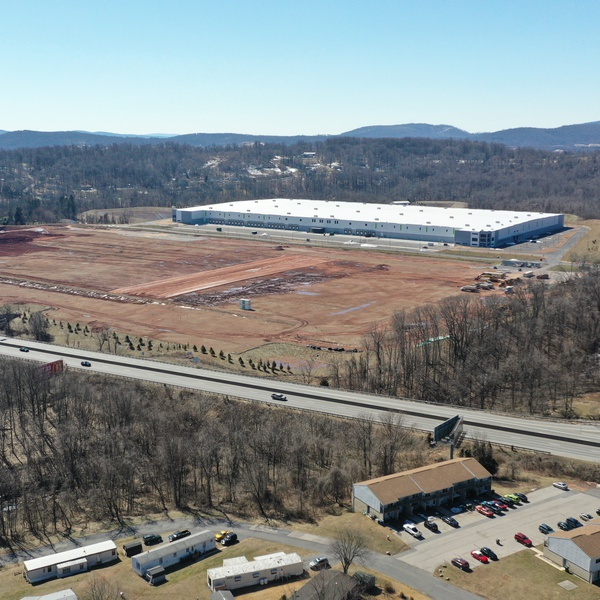 Progress Picture of new Distribution Facility in Lewisberry Pennsylvania