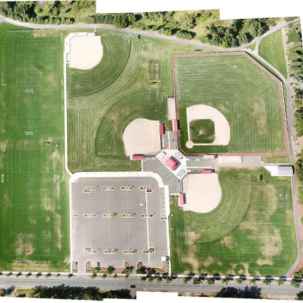 Composite Image of Ballfields