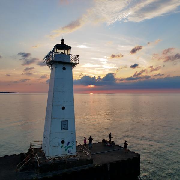 Sodus point lighthouse sunset