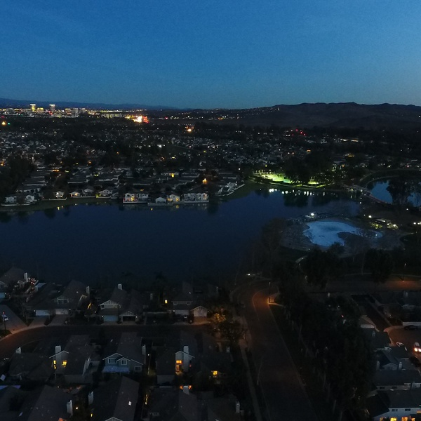 Real Estate Low Light City view