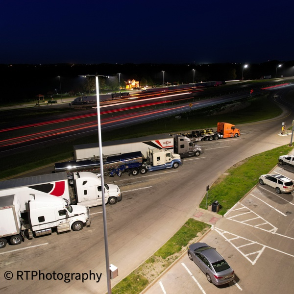 Truck stop night pic