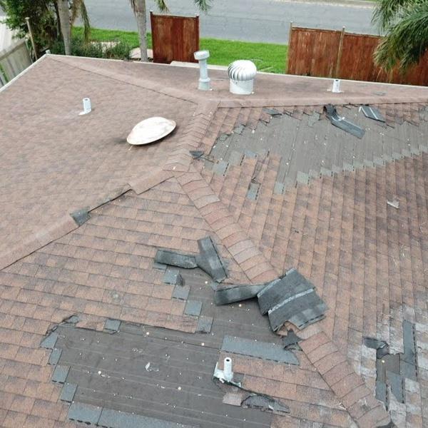 Storm Damaged Roof