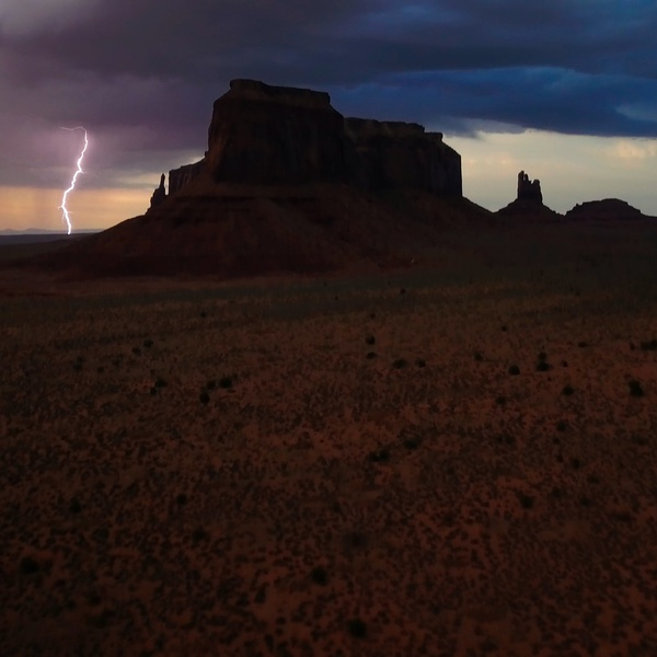 Thunderstorm at Monument Valley
