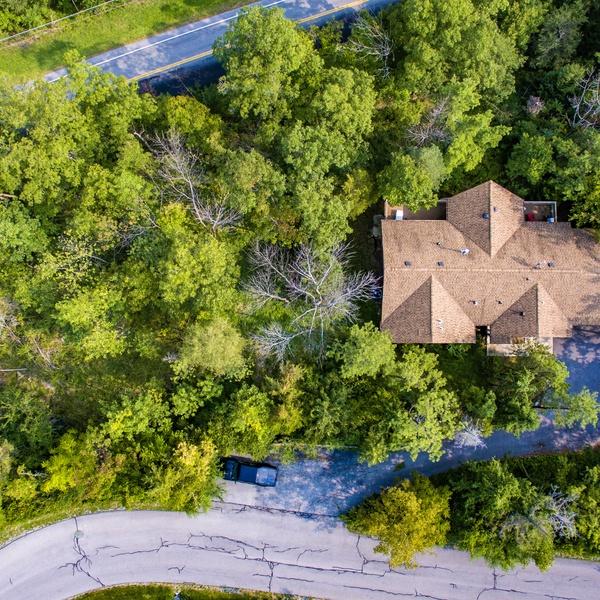Top down View Lake house Job