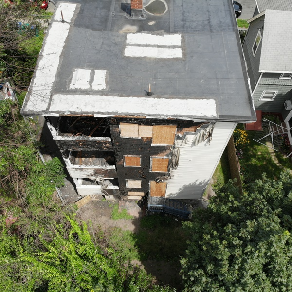 Insurance roof inspection post fire