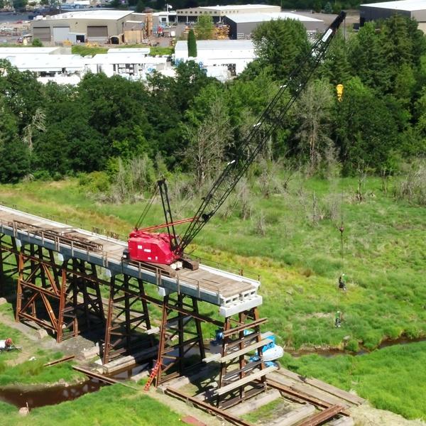 P&W Railway Bridge construction