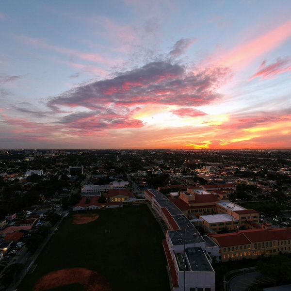 Sunset over Miami High