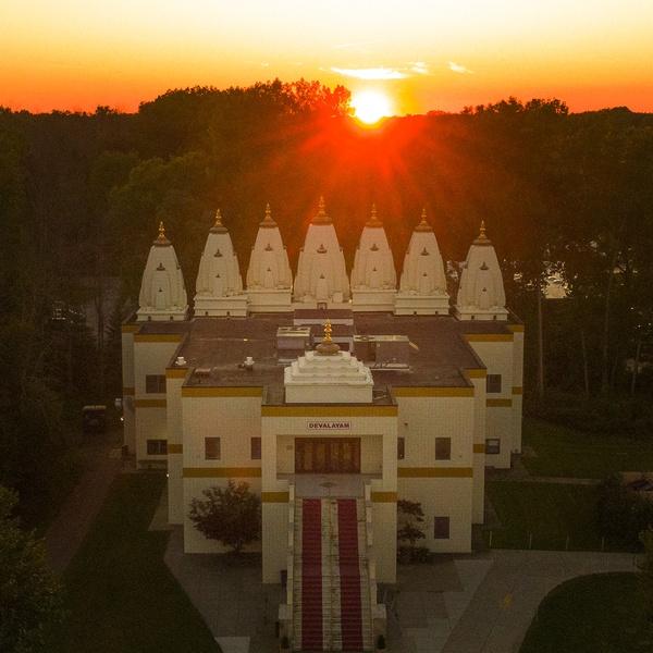 HCS temple at sundown
