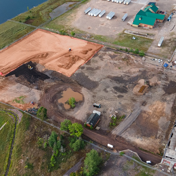 Construction Site - Torch Lake Aerial