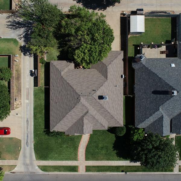 Residential real estate birds eye