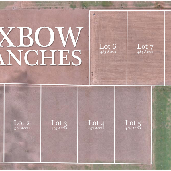 Oxbow Ranches 2D Map with Plat Overlay