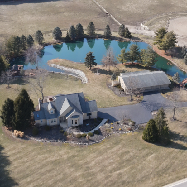 Early Spring Residential Aerial