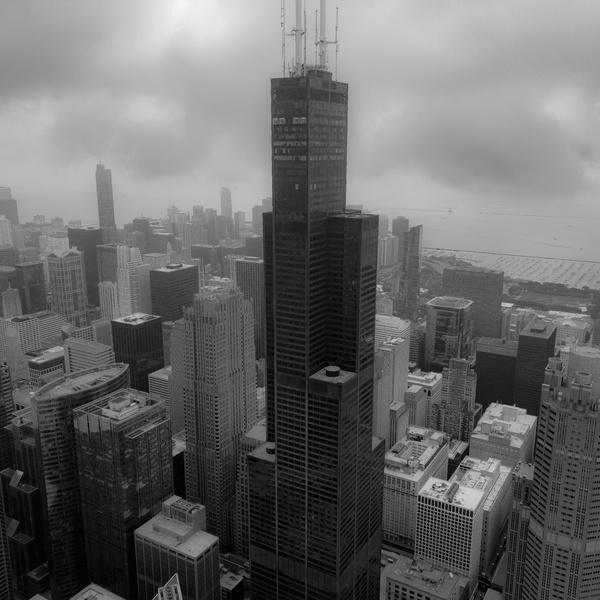 Foggy Willis tower