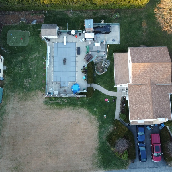 A view of your property not normally seen without a drone.