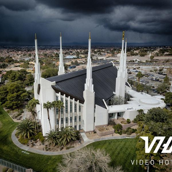 Las Vegas Temple with Storm