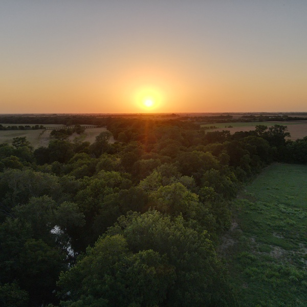 Sunset in Coupland, Texas