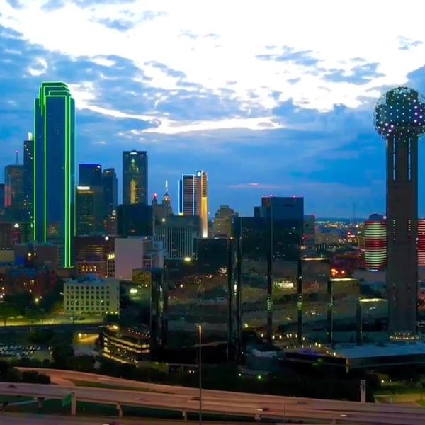 Dallas at sunrise