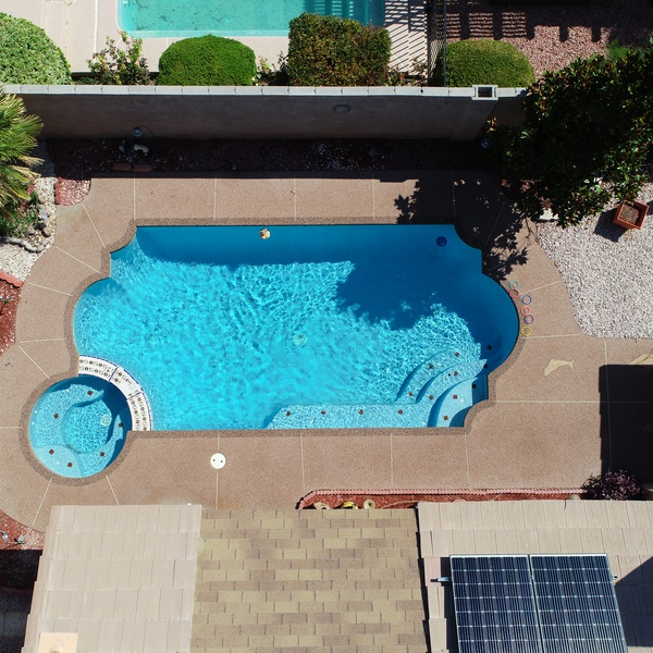 Homeowner wanted an aerial picture of the pool project