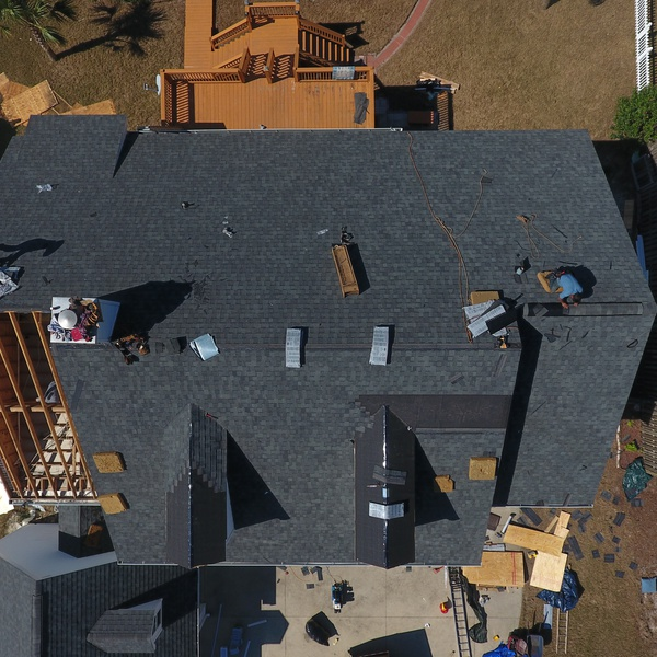 Baldwin County home with damage in process - new roofing being installed