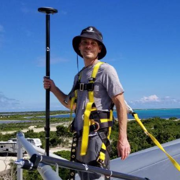 Installing a custom UHF GNSS base station in the Caribbean