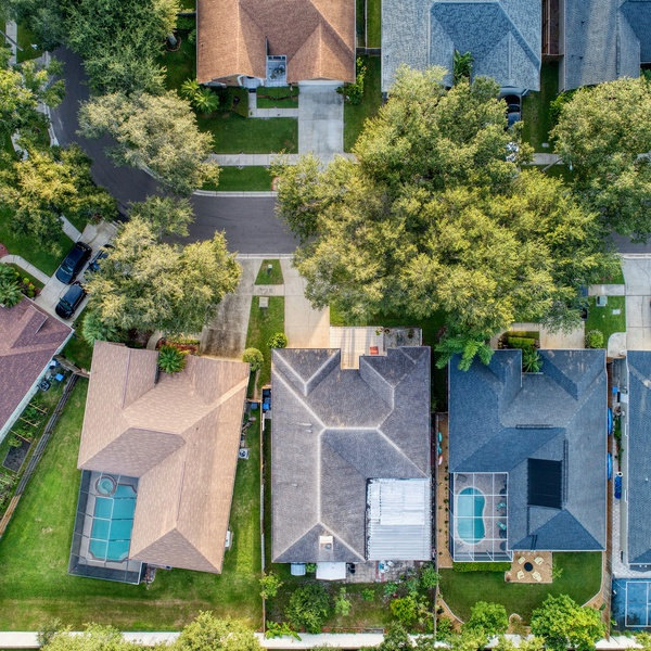 Eagle View of Houses
