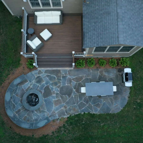 Patio Aerial View