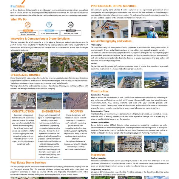 Dronesolutions360 Brochure